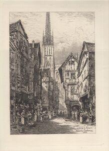 Maxime Lalanne, 'Une Rue de Rouen - A Street in Rouen', 1884
