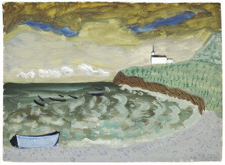 Milton Avery, 'Church by the Sea', 1939