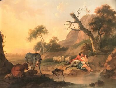 Jacob Xavery, 'Herdsmen with Cattle in a Landscape', ca. 1750