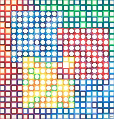 Victor Vasarely, 'Orion Blanc'
