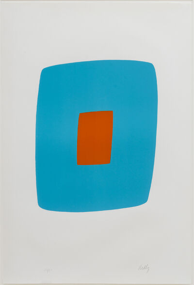 Ellsworth Kelly, 'Light Blue with Orange', 1964