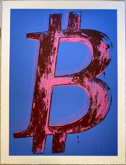 Mr. Brainwash, 'Bitcoin - Blue Background', 2018