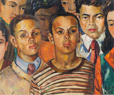 Lois Mailou Jones, 'Howard University Students', 1948