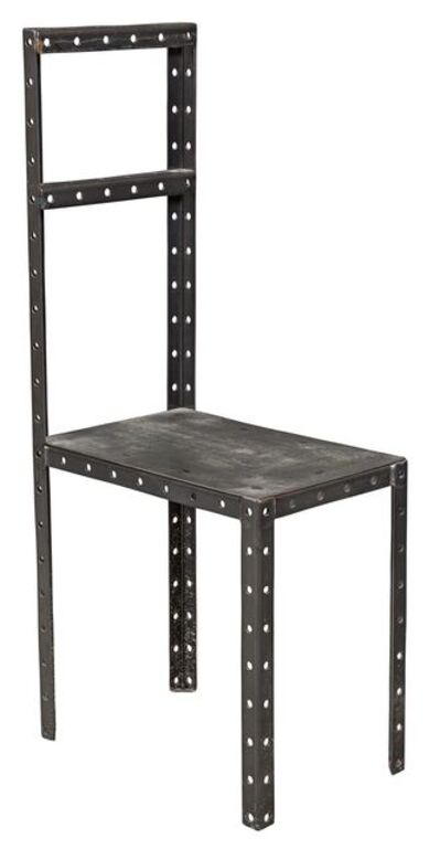 Robert Wilson (b. 1941), 'Robert Wilson Perforated and Sheet Steel Hamletmachine Chair, Designed 1987 for Hamletmachine', 1987