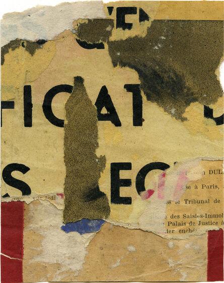 Jacques Villeglé, 'Icat', 1955