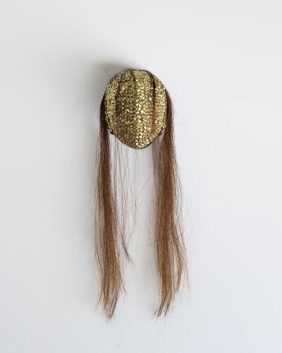 Allison Janae Hamilton, 'Gold Mask with Hair', 2020