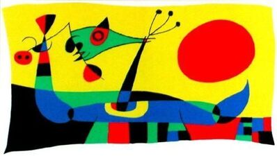 Joan Miró, 'Untitled (Peacock Feathers) Composition 2', 1956