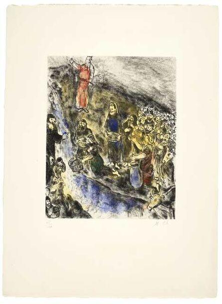Marc Chagall, 'Moïse Fait Jaillir l'Eau du Rocher (Moses Striking Water from Rock), from La Bible (Vollard 233; Cramer bk. 30)'