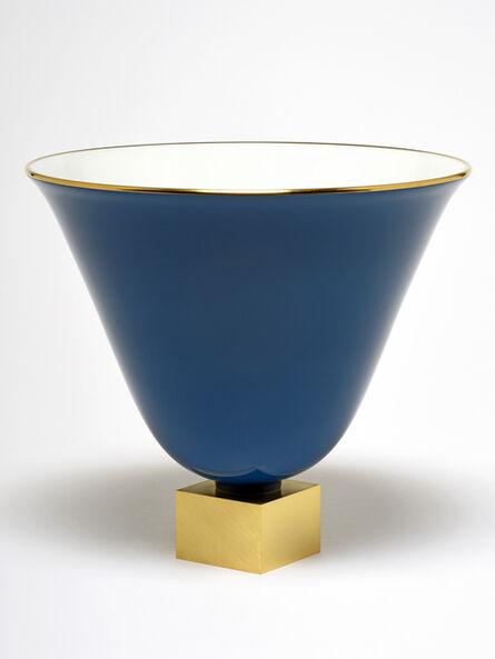 Jacques-Emile Ruhlmann, 'Vase Ruhlmann n°3 (blue)', ca. 1930