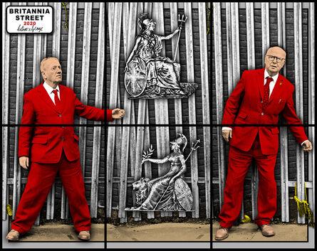 Gilbert and George, 'BRITANNIA STREET', 2020