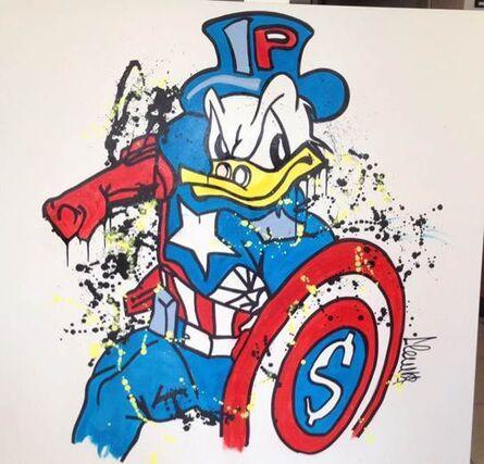 Clem$, 'Daffy Captain American ', 2017