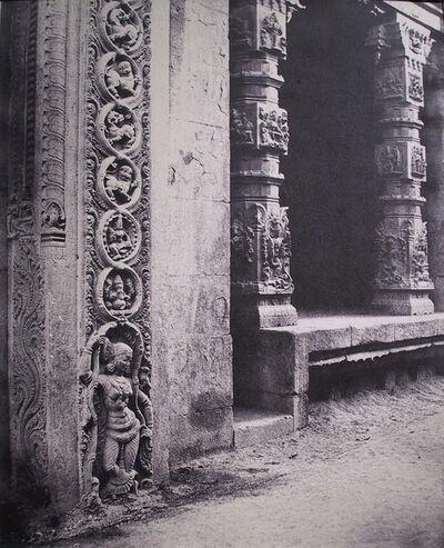 Linnaeus Tripe, 'Basement of a monolith in the Raya Goupuram, Madura, Indai', 1858