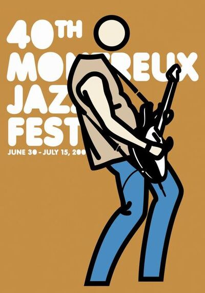 Julian Opie, 'Montreux Jazz Poster (Mustard)', 2006