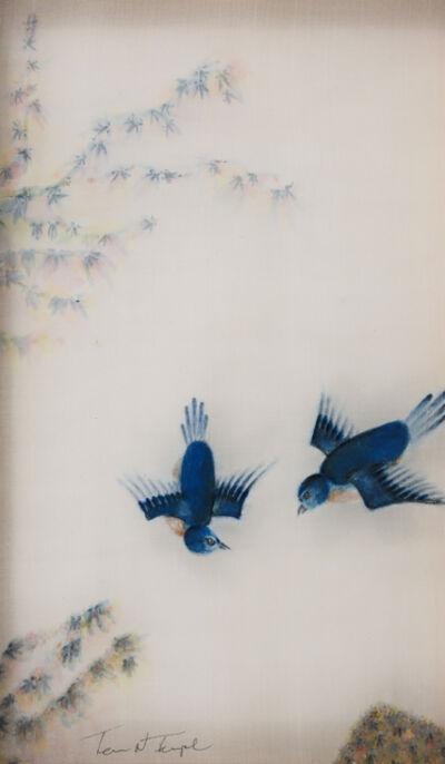Terris Temple, 'Eastern Bluebird 東方的藍鳥', 2018