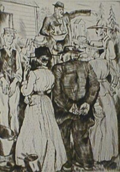 Peggy Bacon, 'Auction', 1925