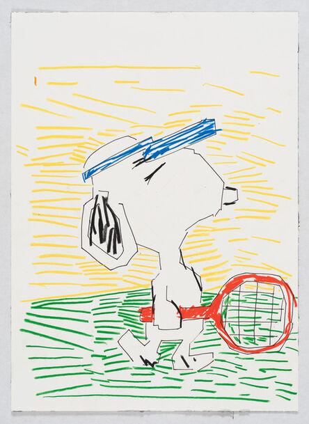 Guy Yanai, 'Snoopy tennis', 2017