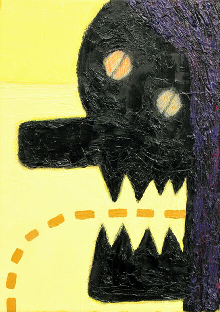 Alex Gene Morrison, 'Purple Hair (Yellow Landscape)', 2018
