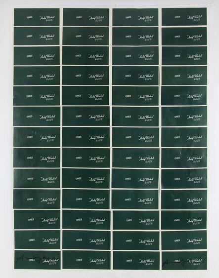 Andy Warhol, 'Art Cash - Ones', 1971