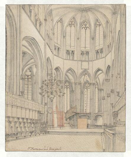 Pieter Jansz. Saenredam, 'The Choir of Utrecht Cathedral', 1636