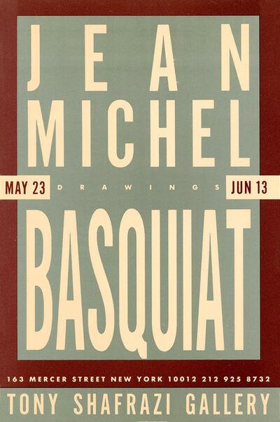 Jean-Michel Basquiat, 'Basquiat at Tony Shafrazi 1987 (Basquiat Drawings announcement) ', 1987