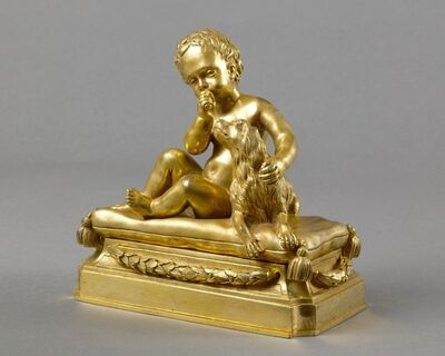 'A beautiful pairof Louis XVI chased and giltbronze paper-weights', ca. 1765