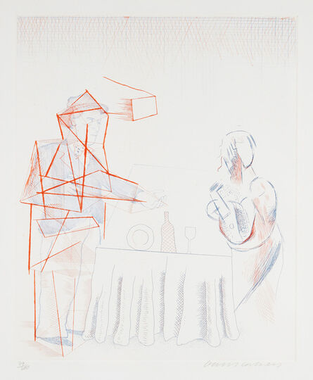 David Hockney, 'Figures with Still Life, from The Blue Guitar (S.A.C. 208, M.C.A.T. 187)', 1976-1977