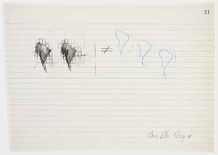 Anna Bella Geiger, 'Equations No 21', 1978