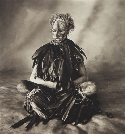Irving Penn, 'Sitting Man with Pink Face, New Guinea', 1970