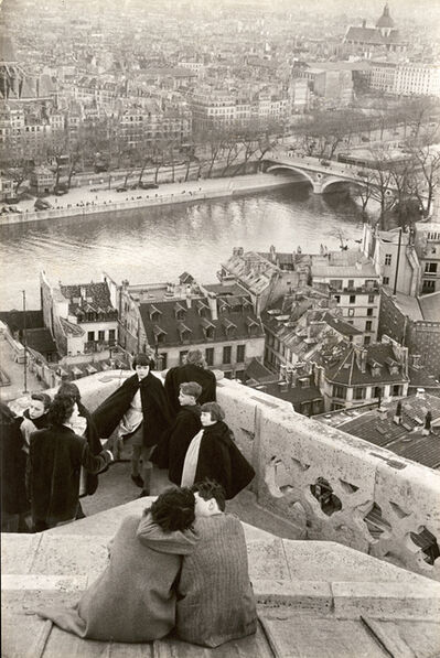 Henri Cartier-Bresson, 'Schoolchildren Looking from the Top of Notre-Dame Cathedral at the Seine River, Paris', 1953/1955c