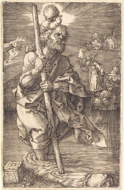 Albrecht Dürer, 'Saint Christopher Facing Right', 1521