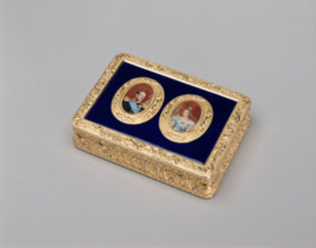 Firm of Keibel, 'Box with Miniatures of Nicholas I and Alexandra', 1830s