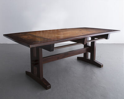 """Sergio Rodrigues, '""""David"""" custom desk in solid wood. Designed by Sergio Rodrigues, Brazil, 1980s.'"""