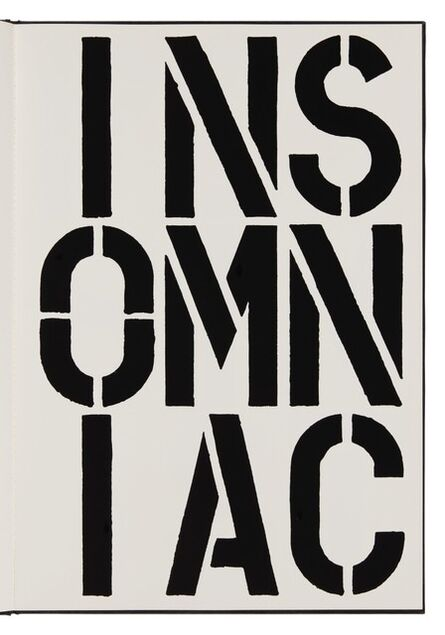 Christopher Wool, 'Insomniac (page from Black Book) ', 1989