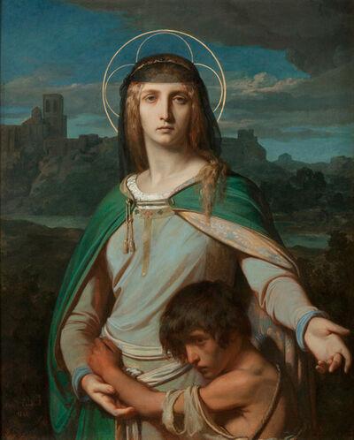 Alexandre Cabanel, 'Saint Monica in a Landscape', 1845