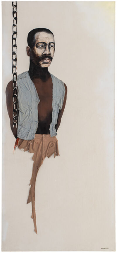 Benny Andrews, 'Portrait of Oppression (Homage to the Black South Africans) ', 1985