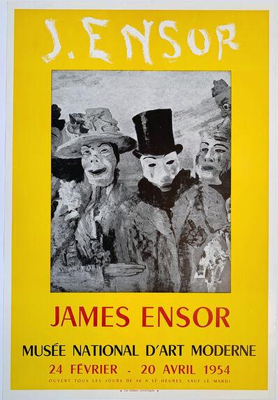 James Ensor, 'J. Ensor, Musee National D'art Moderne Poster', 1954