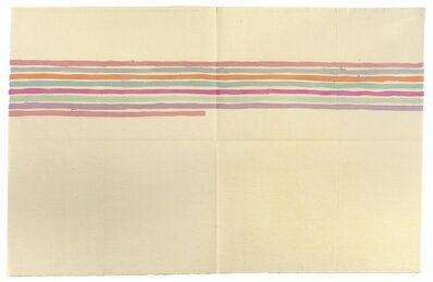 Giorgio Griffa, 'Linee orizzontali', 1974