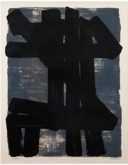 Pierre Soulages, 'Lithograph n°6', 1957