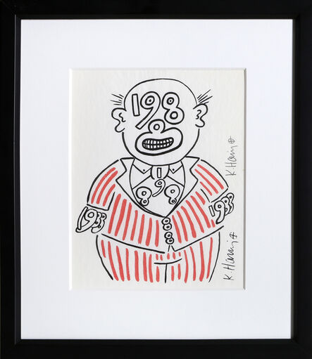 Keith Haring, 'New Year's Invitation '88 (Suit)', 1988
