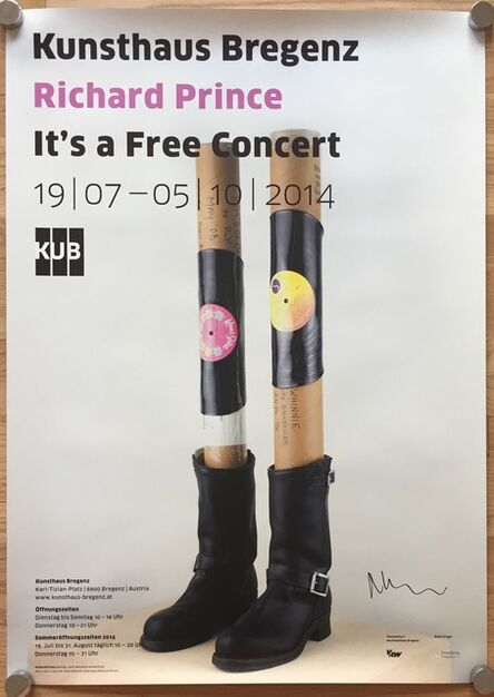 Richard Prince, 'Signed Exhibition Poster (It's a Free Concert)', 2014