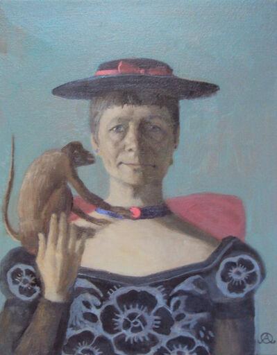 Olga Antonova, 'Self Portrait with Monkey', 2017