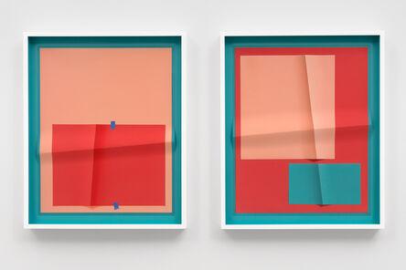 John Houck, 'Accumulator #34.2, 3 Colors Each #009AB2, #F7BA9E, #F86367', 2020
