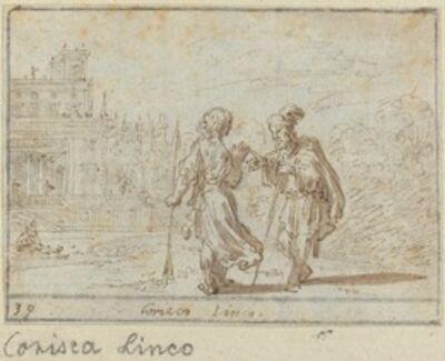 Johann Wilhelm Baur, 'Corisca and Linco', 1640