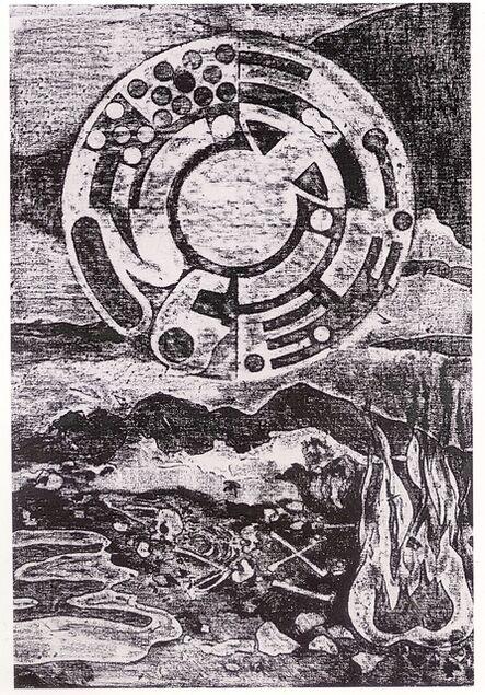 Matt Mullican, 'Untitled (Cosmology over Material)', 1984
