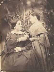 Jean-Baptiste Frénet, 'Portrait of Woman and Child', 1855