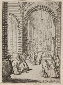 Bernardino Capitelli, 'Interior of a Church', 1631