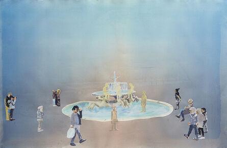 Petri Hytönen, 'Human fountain', 2017