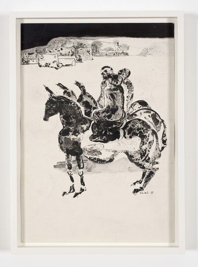 Ibrahim El-Salahi, 'Illustration no. 1 for Tayeb Salih's novel Maryud', 1977