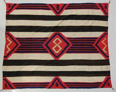 Unknown Navajo Artist, 'Third Phase Chief's Blanket', ca. 865
