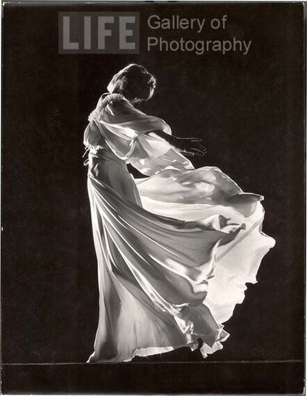 Gjon Mili, 'Model with Billowing Light Colored Sheer Nightgown and Peignoir (Face not Seen)', 1945